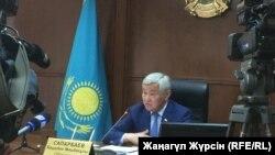 Бердыбек Сапарбаев, аким Актюбинской области.