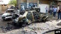 انفجار سيارة مفخخة في احد احياء بغداد الخميس 30أيار