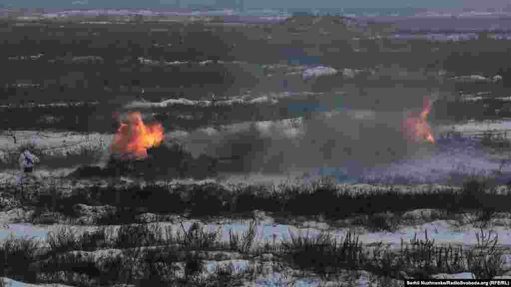 «Боги війни» – артилерія – ведуть вогонь по умовному противнику