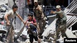 Вооруженные силы Ирака в районе Занджили западном Мосуле