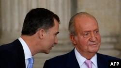 Принц Филипп Астурийский и Хуан Карлос I, 18 июня 2014