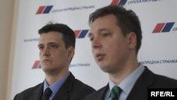 Vladimir Cvijan i Aleksandar Vučić