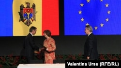 Premierul Iurie Leancă la ceremonia de la Vilnius