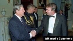Donald Trump və Ronald Reagan, Ağ evdə qəbul, 1987