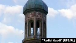 Минарет центральной мечети Душанбе. Иллюстративное фото.