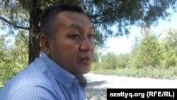 Есимхан Абдубайтов, родственник осужденных по обвинению в терроризме Сапархана и Асылжана Абдубайтовых. Шымкент, 24 июля 2014 года.