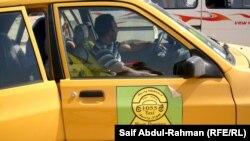 """سيارة أجرة مسجلة تحمل علامة مشروع """"جوال واسط"""""""