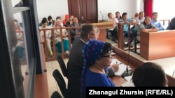 Участники судебного процесса по делу о пожаре в автобусе, где погибли 52 человека. Актобе, 10 сентября 2018 года.