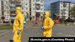 Дезинфекция города, Северодвинск