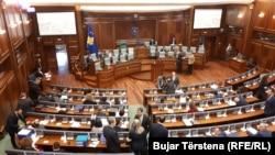Pamje nga një senacë plenare e Kuvendit të Kosovës