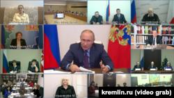 Виртуальная встреча президента РФ с советом по правам человека при нем самом. 10.12.20