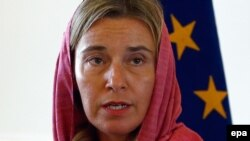 فدریکا موگرینی در جریان سفر سال گذشته به تهران