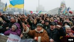 Протести во Киев, 9 февруари.