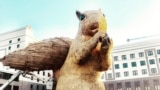 GRAB-Kazakhs Go Nuts Over Giant Squirrel