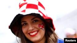 Խորվաթիայի հավաքականի երկրպագուհին Ֆրանսիայում, հունիս, 2016թ.
