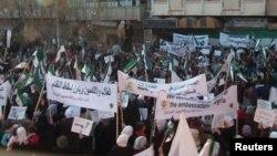 Антиправительственная акция протеста. Сирия, 28 ноября 2011 года.