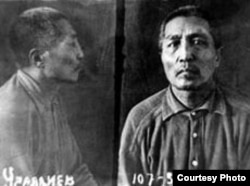 Медеш Уралдиев, редактор казахской газеты в Каркаралинске. Расстрелян 22 ноября 1937 года. Снимок из лагерного дела. Карлаг.