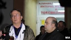 Доктор Андон Чибишев, директор на Клиниката за токсикологија во Скопје.