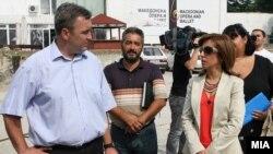 Министерот за култура Канчевска Милевска на стартот на реновирањето на Македонската Опера и Балет