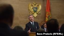 Premijer Milo Đukanović u Skupštini 14. decembra 2015.