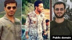 از راست سجاد طاهرنیا، محمد ظهیری، و روح الله عمادی از اعضای کشتهشده سپاه و بسیج در سوریه - عکس از سایت مشرق