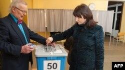На одном из избирательных участков в Таллине
