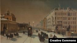 Вид Петербурга, с картины Юрия Клевера