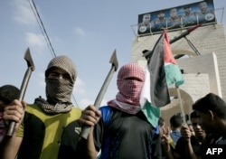 Антиизраильская демонстрация в секторе Газа. 2015 год