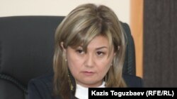 Ratel.kz ісіндегі судья Гүлмира Бейсенова. Алматы, 10 сәуір 2018 жыл.