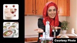 تصویر خانم مجری که در تبلیغات یاد شده حضور دارد
