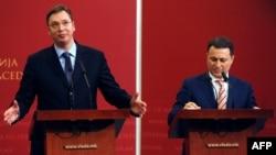 Aleksandar Vučić i Nikola Gruevski