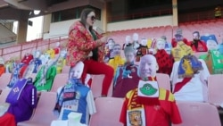 Cardboard Cutouts Join Belarusian Fans In Europe's Only Active Soccer League
