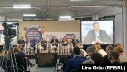 Andrei Richter la conferința pe tema libertății presei de la Kiev