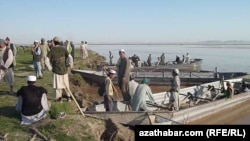 FILE: The Amu Darya River separating Afghanistan from Turkmenistan in Qarqeen district of Jowzjan province.