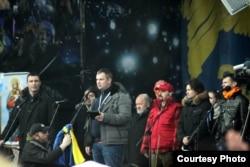 Дмитро Булатов виступає на Майдані в Києві, архівне фото з його фейсбуку