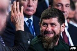 Рамзан Кадыров на пленарном заседании 18-го съезда партии «Единая Россия» в Москве 8 декабря 2018 года