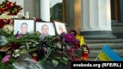 Мемориал Нацгвардейцам, погибшим в столкновениях у Рады 31 августа