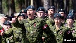 Канаданын Латвияда жайгашкан аскерлери. 19-июнь, 2017-жыл.