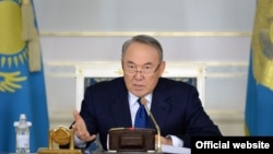 Kazakhstan - Nursultan Nazarbayev at the enlarged session of the Government. Astana, 18Nov2015