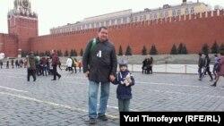 """""""Белые ленты"""" на Красной площади"""