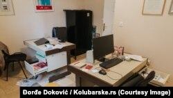 "Redakcija portala ""Kolubarske"" posle provale"