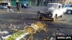 Место, где произошёл один из взрывов. Провинция Сувейда, 25 июля 2018 год