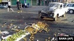 Место, где произошел один из взрывов. Провинция Сувейда, 25 июля 2018 год