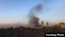 دخان متصاعد من موقع إنفجار في الأنبار