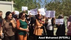 Iraq - Protest of teachers in Suleymaniya, 18Sept2014