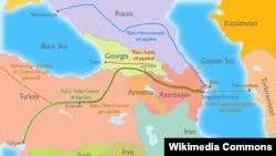 Главные направления нефти из Азербайджана