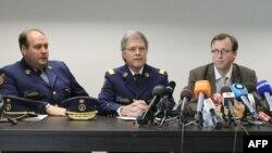 کنفرانس خبری مقامهای پلیس بروکسل در مورد دستگیری مظنون به قتل قاضی این کشور