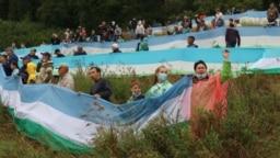 Башкирский триколор стал символом борьбы активистов за шихан Куштау летом 2020 года