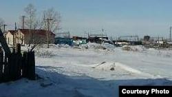 Улица на станции Нура Бухар-Жырауского района. Карагандинская область, 24 февраля 2016 года.