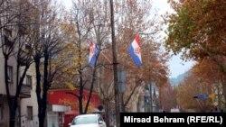 Zastave 'Herceg-Bosne' u Mostaru, studeni 2016.